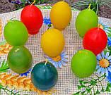"""Пасхальная восковая свеча """"Пасхальная крашанка"""" из пчелиного воска, фото 5"""