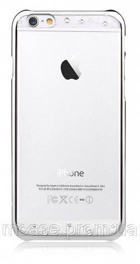Чехол Comma Crystal Bling - Silver со стразами для iPhone 6 ПРОЗРАЧНЫЙ