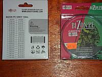 Шнур плетёный bizon pe green зелёный  0.24 мм