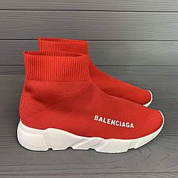 Кроссовки женские баленсиага текстиль летние повседневные красные (реплика) Balenciaga Rad
