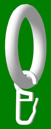 Кольцо с крючком для трубы 28мм