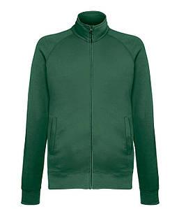 Мужская кофта на молнии S, 38 Темно-Зеленый