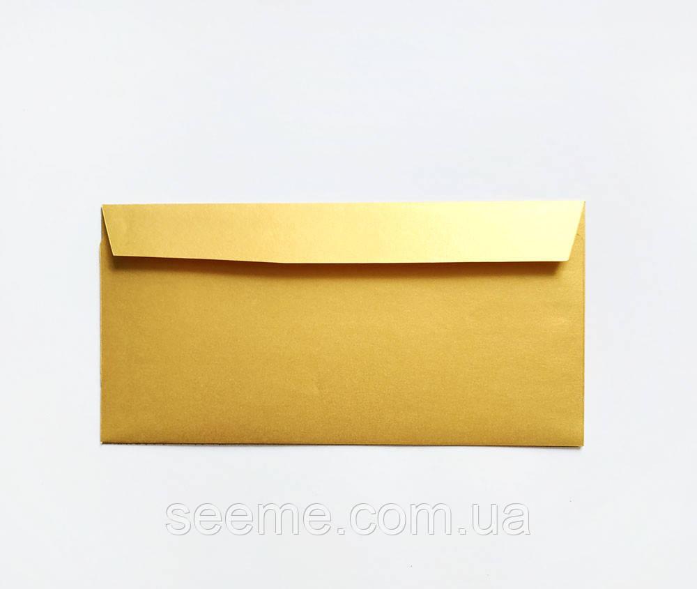 Конверт 220x110 мм, цвет золото (gold)