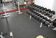Резиновая плитка 1м x1м H=10мм PRO Premium для фитнес клубов и спортзалов