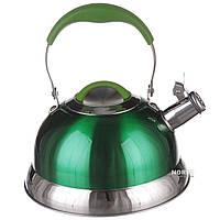 Чайник A-PLUS со свистком 3.2 л (1383) Зеленый (Уценка)