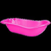 Детская ванночка с термометром Темно-розовая 18-123074-6, КОД: 354716