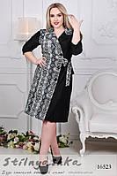 76935806893 Большое платье на запах рептилия графит