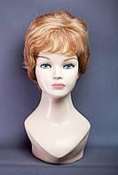 Натуральный парик №1,цвет мелирование светло-русый с белым