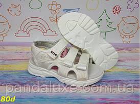 Дитячі красиві білі босоніжки 31-36р
