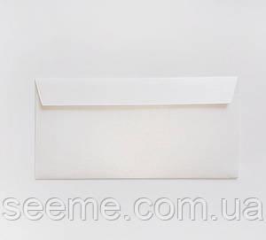 Конверт 220x110 мм, цвет белый