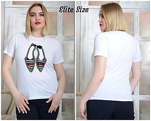 Женская футболка трикотажная Турция 46-54