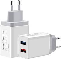 Сетевое зарядное устройство XoKo WC-210 2.4A USB White