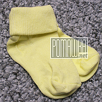 Плотные носочки 9 см 0-3 мес детские носки для новорожденных детей малышей грудничков младенцев 4689 Желтый, фото 1