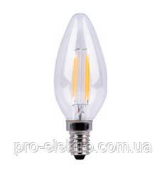 Світлодіодна енергозберігаюча LED лампа свічка ZL1012 5W Е14 4000К Filament Z-Light