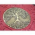 """Фотоальбом у шкіряній палітурці декорований латунною емблемою з дизайнерськими листами """"Сімейний"""", фото 3"""