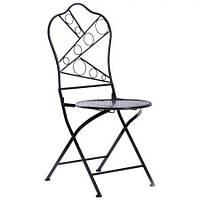 Металлический стул Антиб металл, винтаж блек