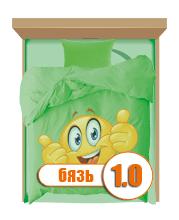 Полуторний з бязі Голд комплект з дитячим малюнком 1.0