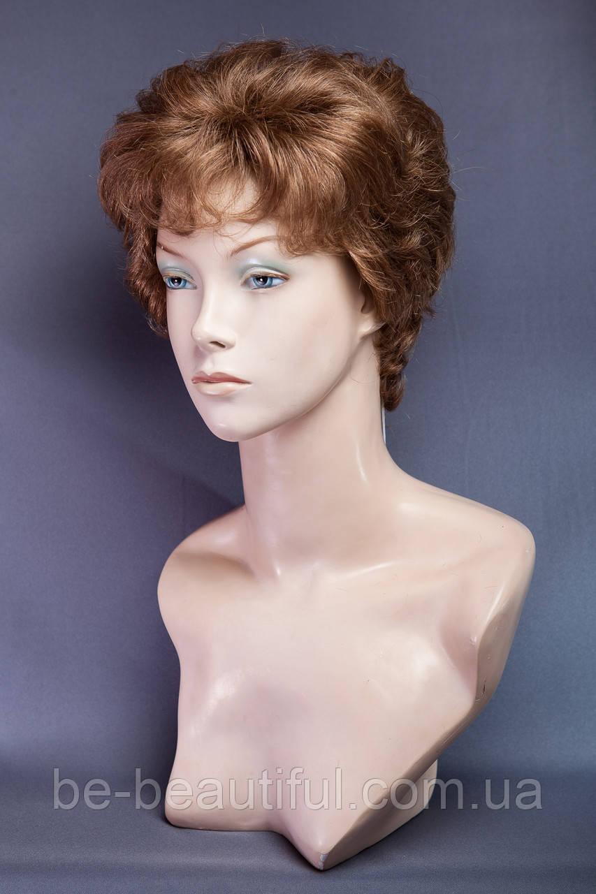 Натуральный парик №1, цвет темно-русый