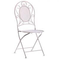 Металлический стул Тулон металл, винтаж вайт