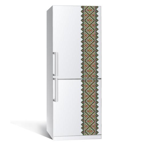 Интерьерная наклейка на холодильник в этностиле Вышиванка 1 (пленка самоклеющаяся фотопечать)