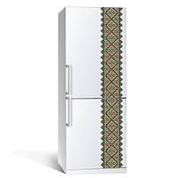Интерьерная наклейка на холодильник в этностиле Вышиванка 1 (пленка самоклеющаяся фотопечать), фото 1