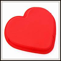 Силиконовая форма Сердце  большое 28,5*25,5*3,3