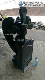 Скульптура ангела из гранита с крестом. Изготовление Киев, установка Николаев. 6
