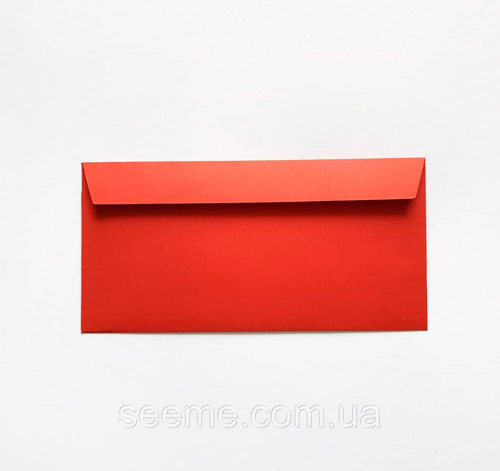 Конверт 220x110 мм, цвет красный