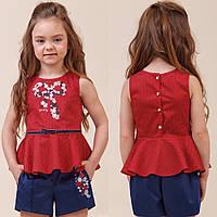 Двухцветный комплект блуза+шорты zironka