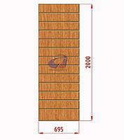 Экономпанели, экспопанели, светлый дуб H=2000мм, W=690мм, шаг 100мм, 19 пазов, без вставок