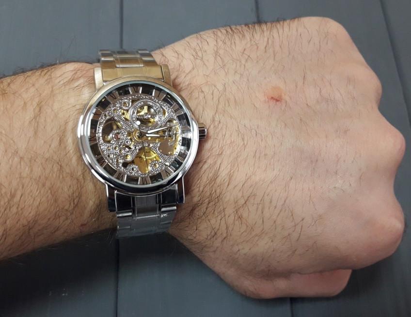 ce5704fca5bc Мужские механические часы Winner BestSeller Silver. Наручные часы скелетоны  на стальном ...
