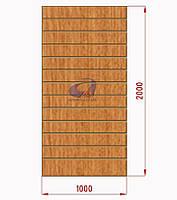 Экономпанели, экспопанели, светлый дуб H=2000мм, W=1000мм, шаг 100мм, 19 пазов, без вставок