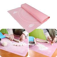 Коврик-подложка для раскатывания теста 40х50 см (розовый)