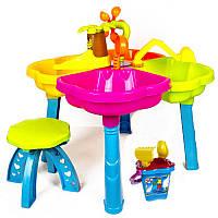 Столик Песочница для обычного или кинетического песка, формочки, стульчик, 01-121 Украина