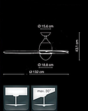 Стельовий вентилятор PREMY 132 см + Пульт, фото 2
