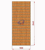 Экспо панель, эконом панель светлый дуб 2440, 1000