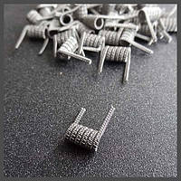 XFKM Staggered Fused Clapton Coil (2*0.4K:0.2N) 5 витков