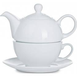 Фарфоровые чашки и чайники