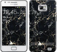 Чехол EndorPhone для Samsung Galaxy S2 Plus i9105 Черный мрамор (3846c-71)