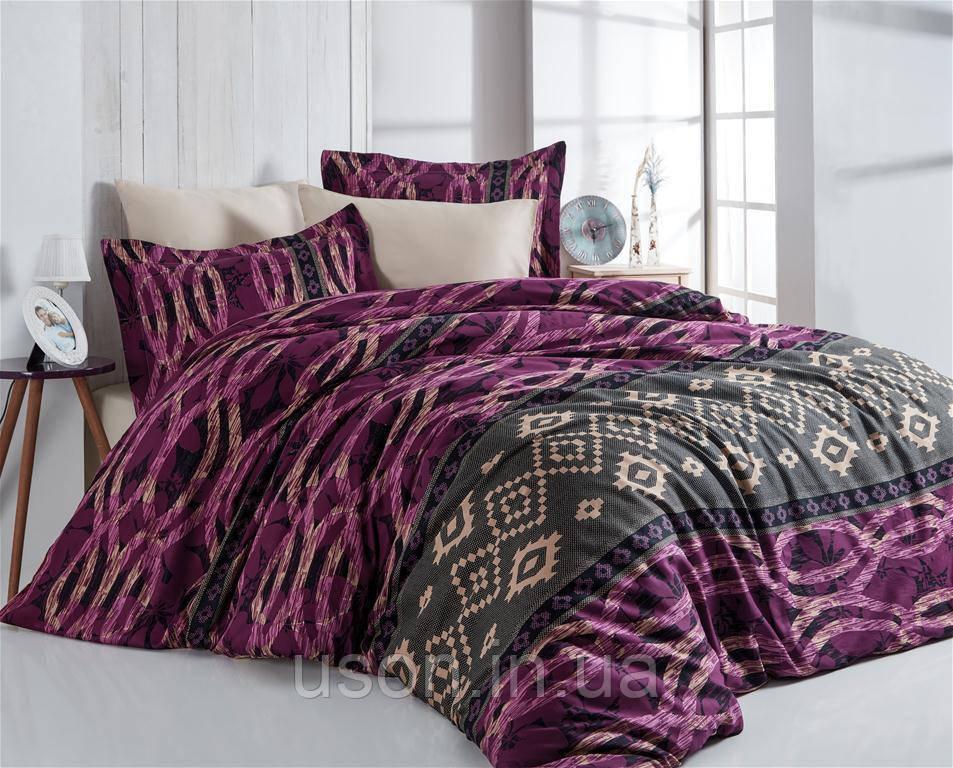 Комплект постельного белья  nazenin сатин размер евро Firuze murdum