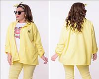 Яркий женский пиджак большой размер
