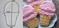 Вырубка для пряника Мороженое пломбир