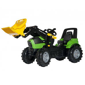 Педальный трактор с ковшом RollyToys Deutz-Fahr для детей 3-8 лет 710034, фото 2