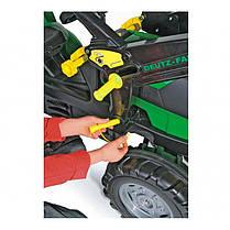 Педальный трактор с ковшом RollyToys Deutz-Fahr для детей 3-8 лет 710034, фото 3