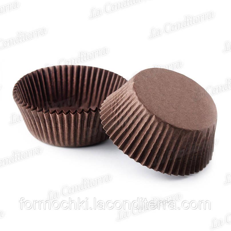 Форми для кексів коричневі 7 (Ш 50, бортик – 25 мм), 2000 шт.