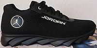 Jordan JE крейзи черная сетка ! летние черные мужские спортивные кроссовки сетка кожа, фото 1