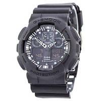 Часы наручные Casio G-Shock GA-100 All Black (Реплика А)