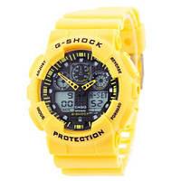 Часы наручные Casio G-Shock GA-100 Yellow-Black (Реплика А)