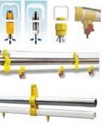 Труба квадратна ПВХ для лінії поїння, 18 ніпелів, Topcombi Lubing