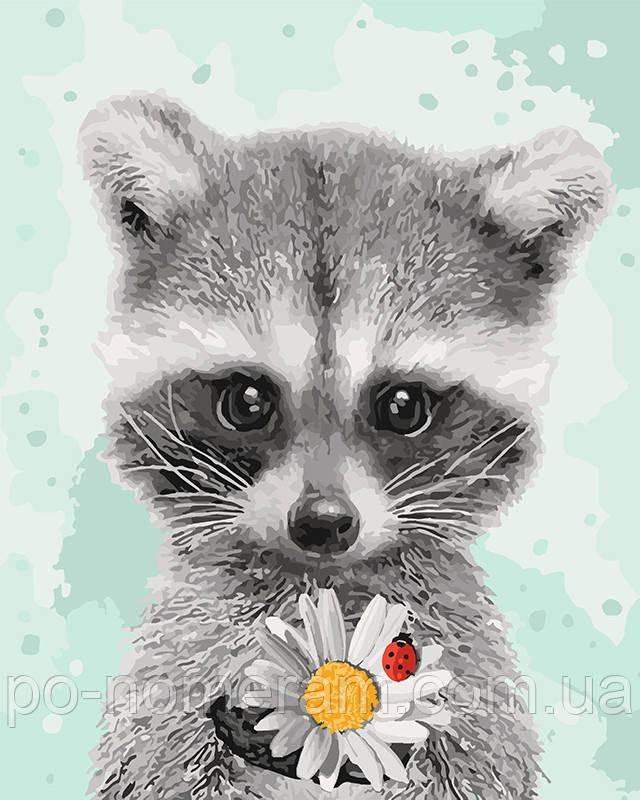 Картина раскраска Крошка енот (KHO4119) 40 х 50 см Идейка ...